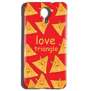 Micromax Canvas Nitro 4g E455 Mobile Covers Cases Love Triangle - Lowest Price - Paybydaddy.com