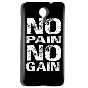 Micromax Canvas Nitro 4g E455 Mobile Covers Cases No Pain No Gain Black And White - Lowest Price - Paybydaddy.com