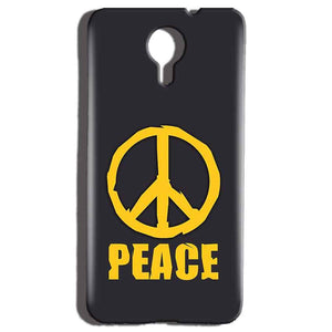 Micromax Canvas Nitro 4g E455 Mobile Covers Cases Peace Blue Yellow - Lowest Price - Paybydaddy.com