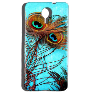 Micromax Canvas Nitro 4g E455 Mobile Covers Cases Peacock blue wings - Lowest Price - Paybydaddy.com