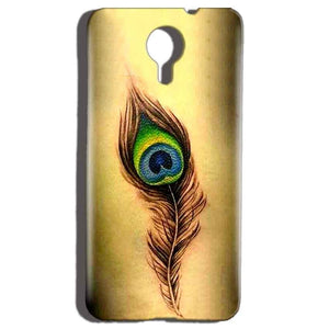 Micromax Canvas Nitro 4g E455 Mobile Covers Cases Peacock coloured art - Lowest Price - Paybydaddy.com