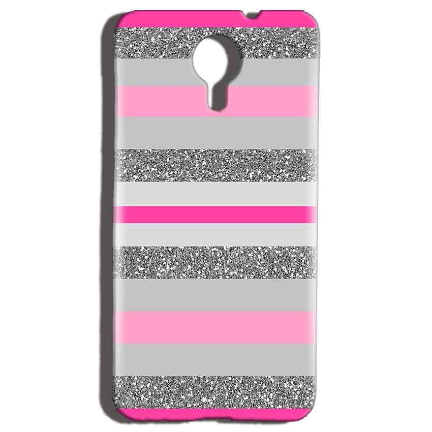 Micromax Canvas Nitro 4g E455 Mobile Covers Cases Pink colour pattern - Lowest Price - Paybydaddy.com