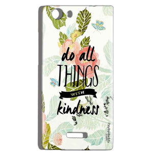 Micromax Canvas Play 4G Q469 Mobile Covers Cases Do all things with kindness - Lowest Price - Paybydaddy.com