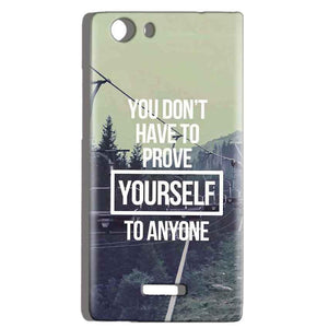 Micromax Canvas Play 4G Q469 Mobile Covers Cases Donot Prove yourself - Lowest Price - Paybydaddy.com