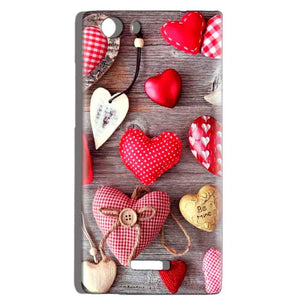 Micromax Canvas Play 4G Q469 Mobile Covers Cases Hearts- Lowest Price - Paybydaddy.com