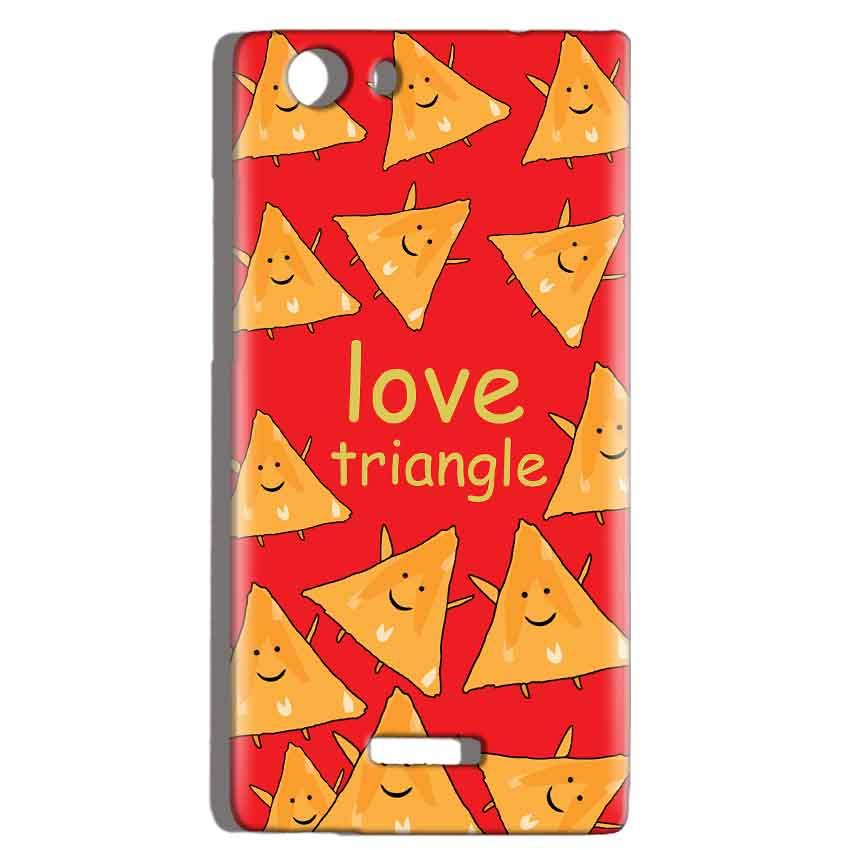 Micromax Canvas Play 4G Q469 Mobile Covers Cases Love Triangle - Lowest Price - Paybydaddy.com