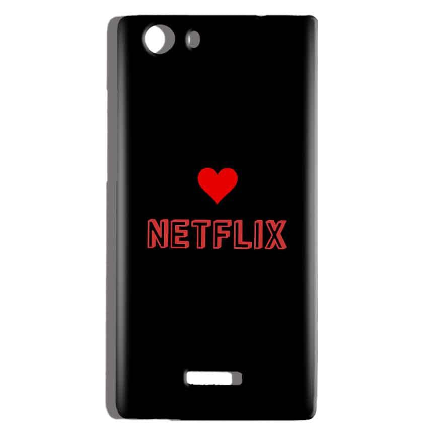 Micromax Canvas Play 4G Q469 Mobile Covers Cases NETFLIX WITH HEART - Lowest Price - Paybydaddy.com