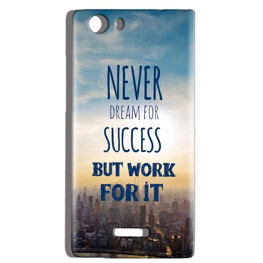 Micromax Canvas Play 4G Q469 Mobile Covers Cases Never Dreams For Success But Work For It Quote - Lowest Price - Paybydaddy.com