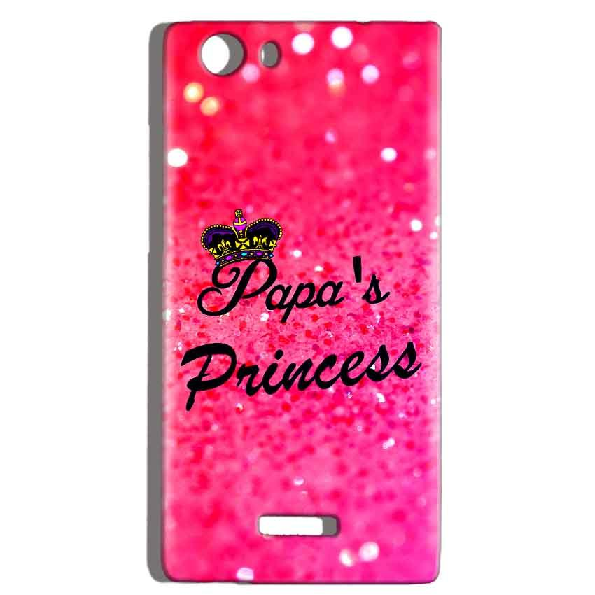 Micromax Canvas Play 4G Q469 Mobile Covers Cases PAPA PRINCESS - Lowest Price - Paybydaddy.com
