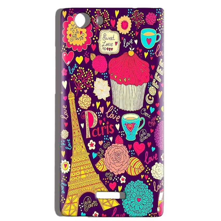 Micromax Canvas Play 4G Q469 Mobile Covers Cases Paris Sweet love - Lowest Price - Paybydaddy.com