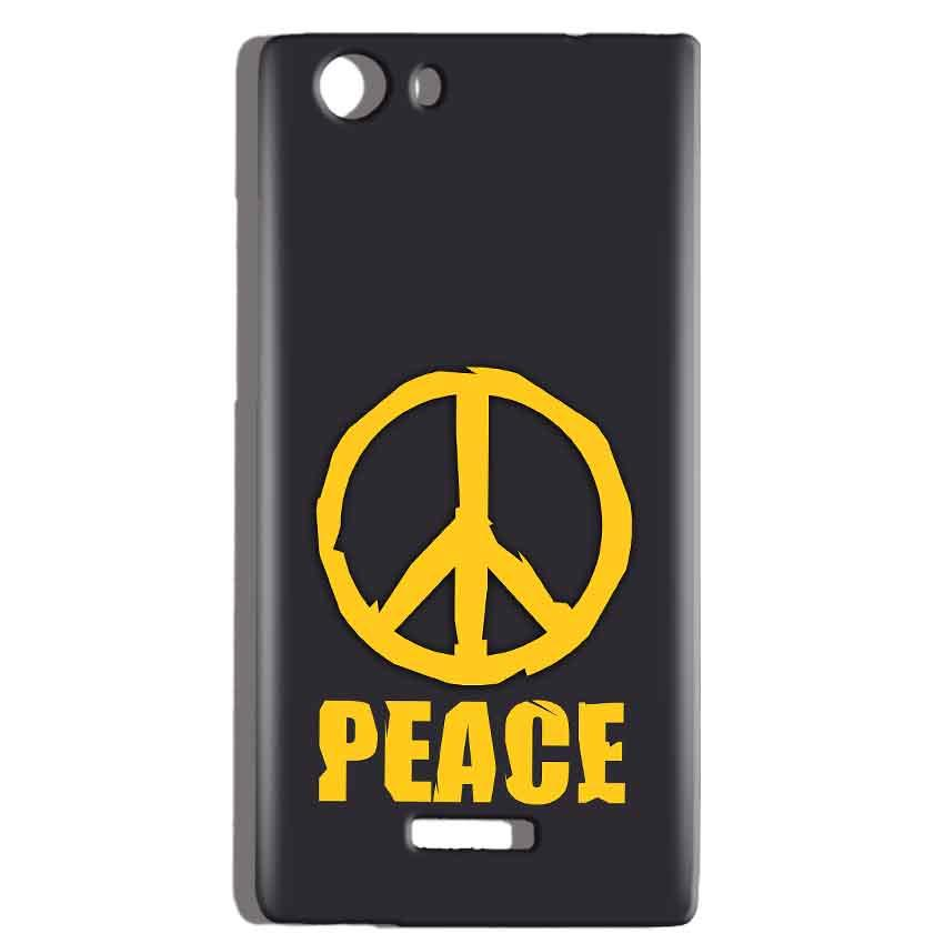 Micromax Canvas Play 4G Q469 Mobile Covers Cases Peace Blue Yellow - Lowest Price - Paybydaddy.com