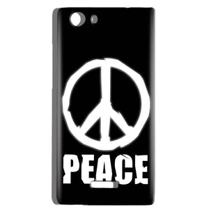 Micromax Canvas Play 4G Q469 Mobile Covers Cases Peace Sign In White - Lowest Price - Paybydaddy.com