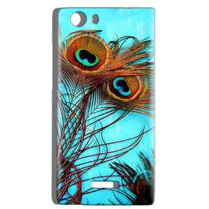 Micromax Canvas Play 4G Q469 Mobile Covers Cases Peacock blue wings - Lowest Price - Paybydaddy.com