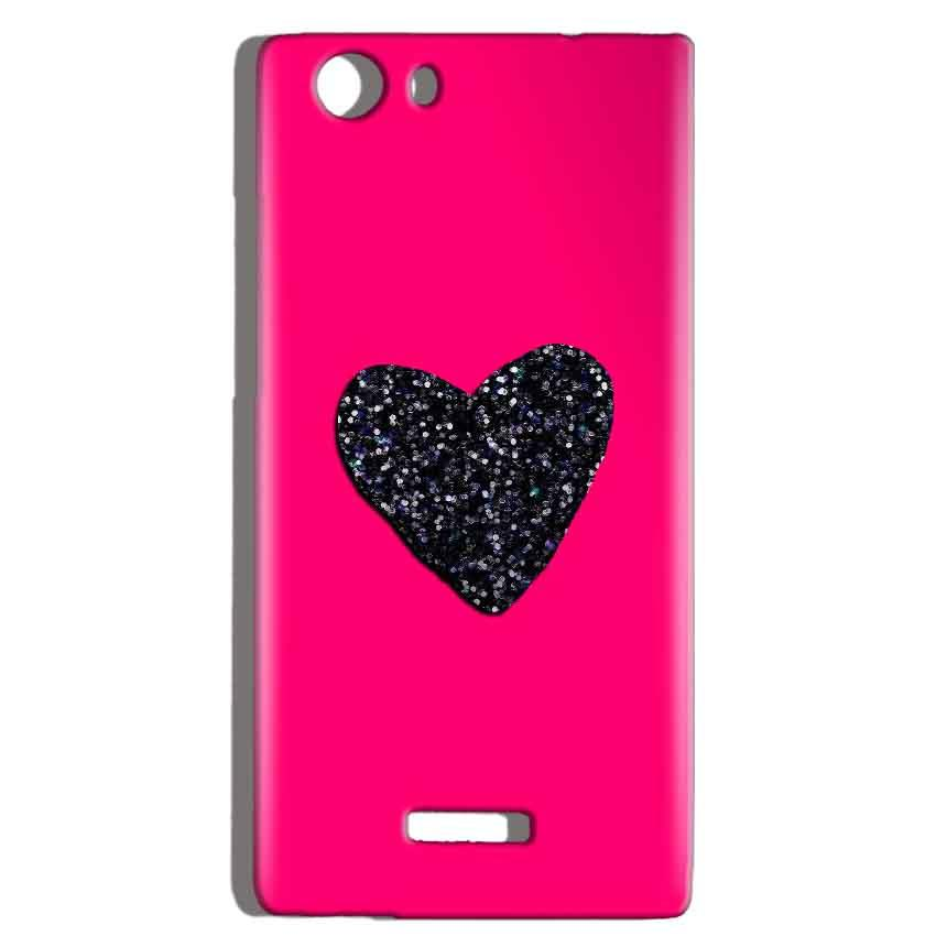Micromax Canvas Play 4G Q469 Mobile Covers Cases Pink Glitter Heart - Lowest Price - Paybydaddy.com