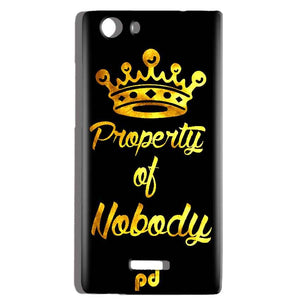Micromax Canvas Play 4G Q469 Mobile Covers Cases Property of nobody with Crown - Lowest Price - Paybydaddy.com