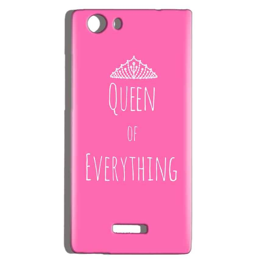 Micromax Canvas Play 4G Q469 Mobile Covers Cases Queen Of Everything Pink White - Lowest Price - Paybydaddy.com