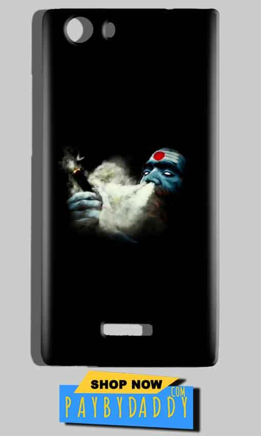 Micromax Canvas Play 4G Q469 Mobile Covers Cases Shiva Aghori Smoking - Lowest Price - Paybydaddy.com