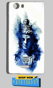 Micromax Canvas Play 4G Q469 Mobile Covers Cases Shiva Blue White - Lowest Price - Paybydaddy.com