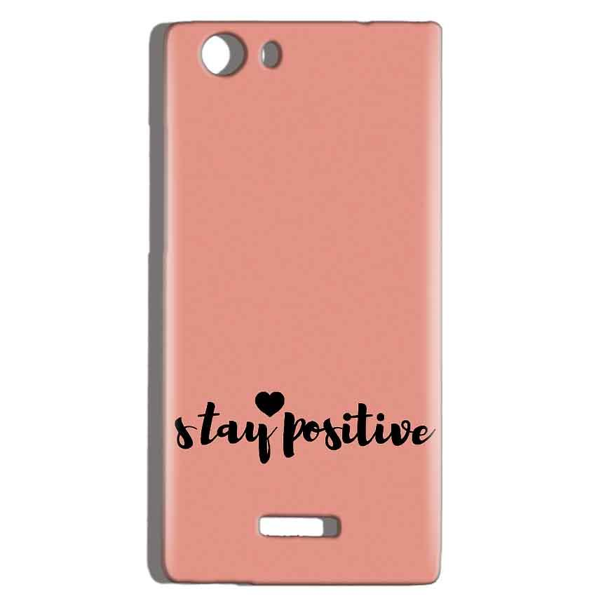 Micromax Canvas Play 4G Q469 Mobile Covers Cases Stay Positive - Lowest Price - Paybydaddy.com