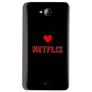 Micromax Canvas Play Q355 Mobile Covers Cases NETFLIX WITH HEART - Lowest Price - Paybydaddy.com