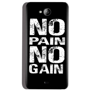 Micromax Canvas Play Q355 Mobile Covers Cases No Pain No Gain Black And White - Lowest Price - Paybydaddy.com
