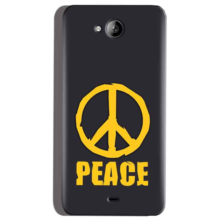 Micromax Canvas Play Q355 Mobile Covers Cases Peace Blue Yellow - Lowest Price - Paybydaddy.com