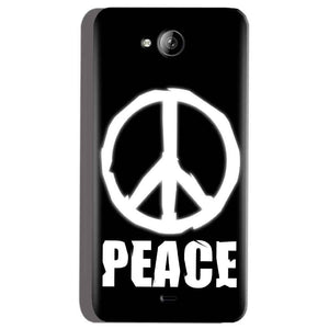 Micromax Canvas Play Q355 Mobile Covers Cases Peace Sign In White - Lowest Price - Paybydaddy.com