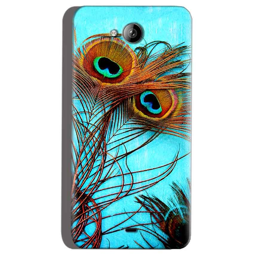Micromax Canvas Play Q355 Mobile Covers Cases Peacock blue wings - Lowest Price - Paybydaddy.com