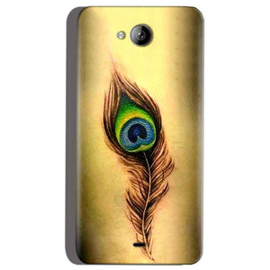 Micromax Canvas Play Q355 Mobile Covers Cases Peacock coloured art - Lowest Price - Paybydaddy.com