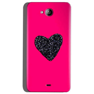 Micromax Canvas Play Q355 Mobile Covers Cases Pink Glitter Heart - Lowest Price - Paybydaddy.com