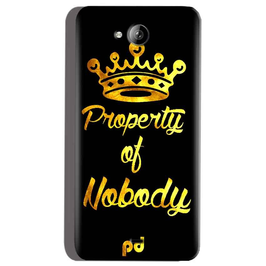 Micromax Canvas Play Q355 Mobile Covers Cases Property of nobody with Crown - Lowest Price - Paybydaddy.com