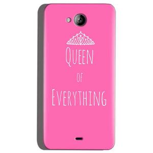 Micromax Canvas Play Q355 Mobile Covers Cases Queen Of Everything Pink White - Lowest Price - Paybydaddy.com