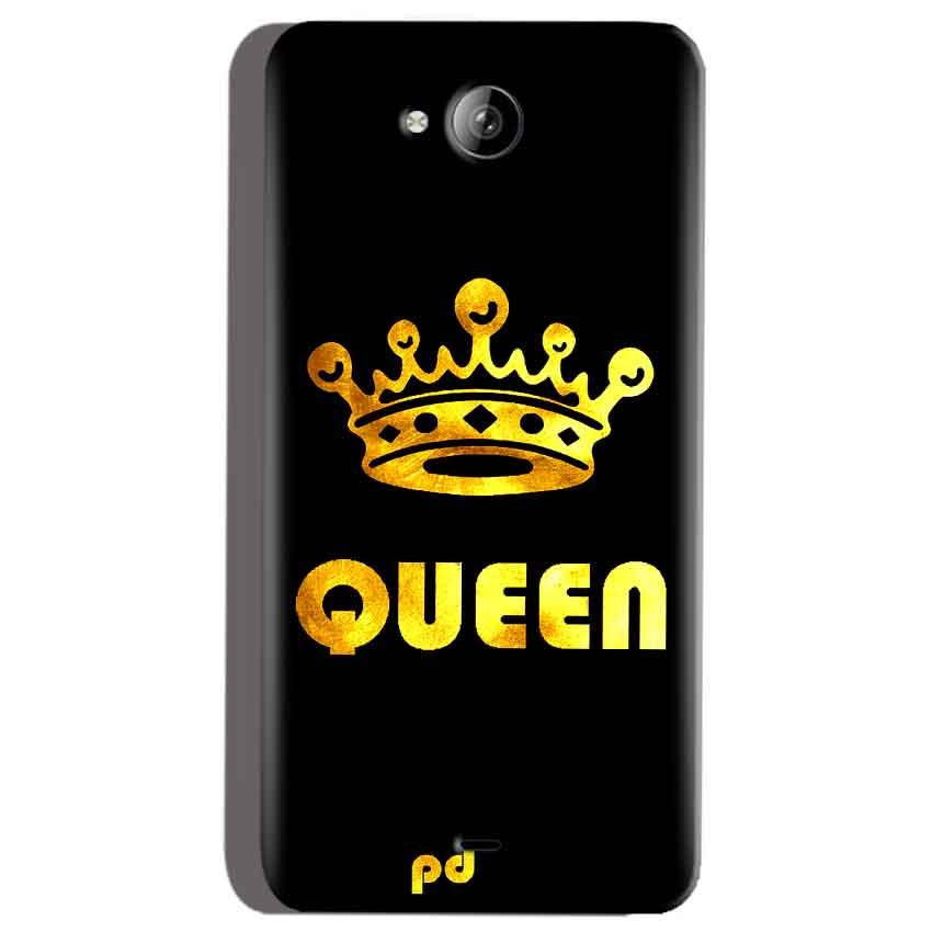 Micromax Canvas Play Q355 Mobile Covers Cases Queen With Crown in gold - Lowest Price - Paybydaddy.com