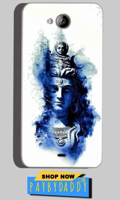 Micromax Canvas Play Q355 Mobile Covers Cases Shiva Blue White - Lowest Price - Paybydaddy.com
