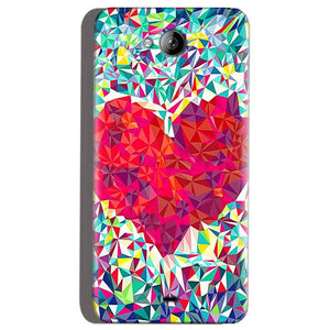 Micromax Canvas Play Q355 Mobile Covers Cases heart Prisma design - Lowest Price - Paybydaddy.com