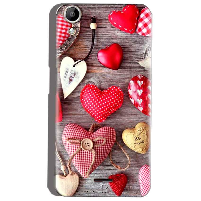 Micromax Canvas Selfie 2 Q340 Mobile Covers Cases Hearts- Lowest Price - Paybydaddy.com