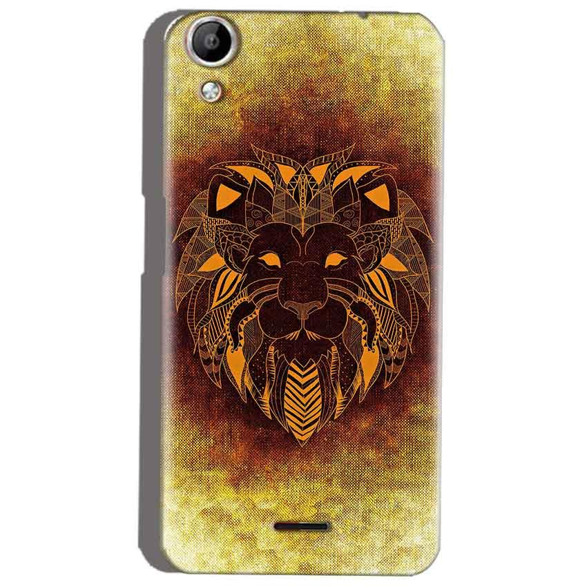 Micromax Canvas Selfie 2 Q340 Mobile Covers Cases Lion face art - Lowest Price - Paybydaddy.com