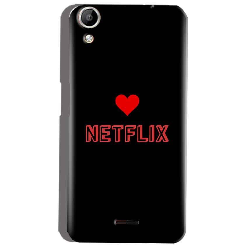 Micromax Canvas Selfie 2 Q340 Mobile Covers Cases NETFLIX WITH HEART - Lowest Price - Paybydaddy.com