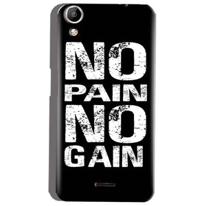 Micromax Canvas Selfie 2 Q340 Mobile Covers Cases No Pain No Gain Black And White - Lowest Price - Paybydaddy.com