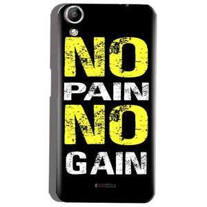 Micromax Canvas Selfie 2 Q340 Mobile Covers Cases No Pain No Gain Yellow Black - Lowest Price - Paybydaddy.com