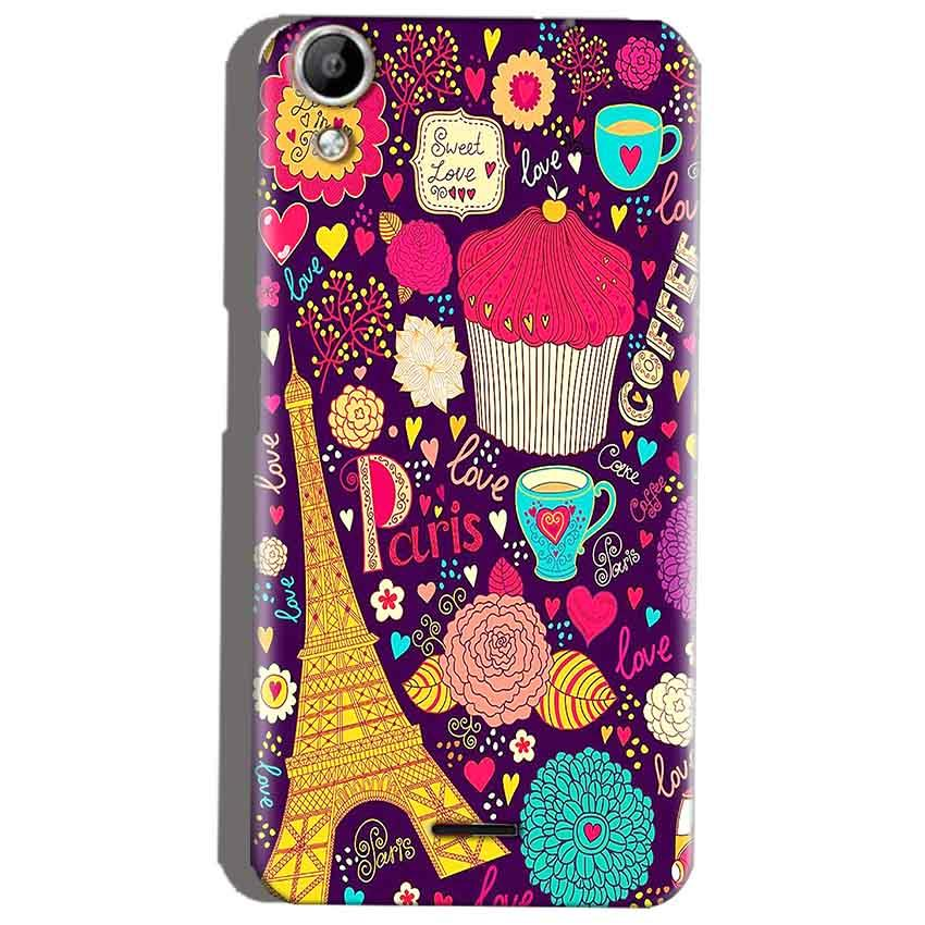 Micromax Canvas Selfie 2 Q340 Mobile Covers Cases Paris Sweet love - Lowest Price - Paybydaddy.com