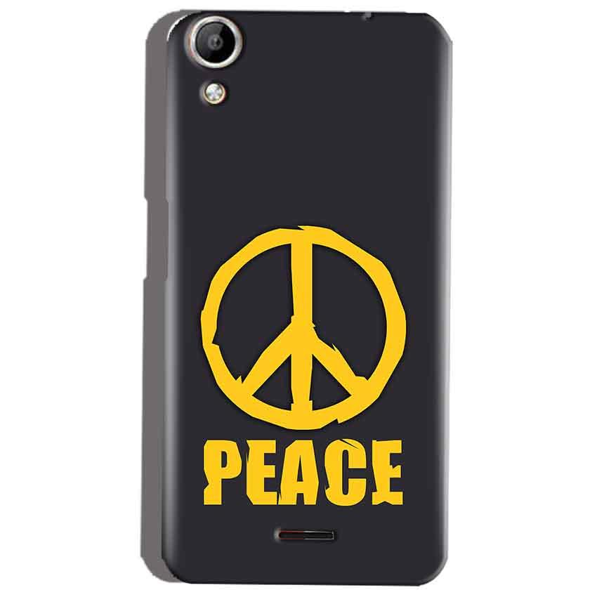 Micromax Canvas Selfie 2 Q340 Mobile Covers Cases Peace Blue Yellow - Lowest Price - Paybydaddy.com