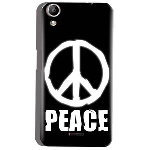 Micromax Canvas Selfie 2 Q340 Mobile Covers Cases Peace Sign In White - Lowest Price - Paybydaddy.com