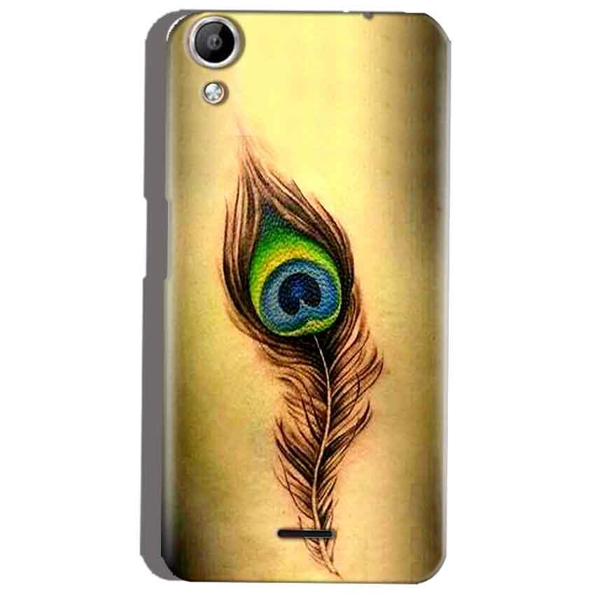 Micromax Canvas Selfie 2 Q340 Mobile Covers Cases Peacock coloured art - Lowest Price - Paybydaddy.com