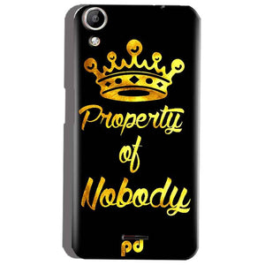 Micromax Canvas Selfie 2 Q340 Mobile Covers Cases Property of nobody with Crown - Lowest Price - Paybydaddy.com