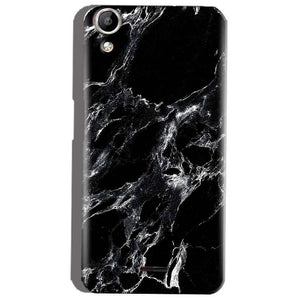 the best attitude fe317 6f055 Micromax Canvas Selfie 2 Q340 Pure Black Marble Texture Back Cover
