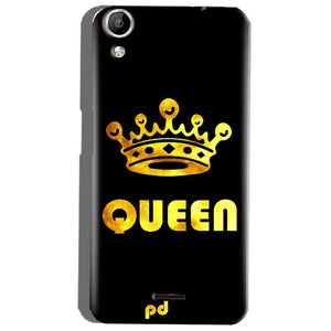 Micromax Canvas Selfie 2 Q340 Mobile Covers Cases Queen With Crown in gold - Lowest Price - Paybydaddy.com