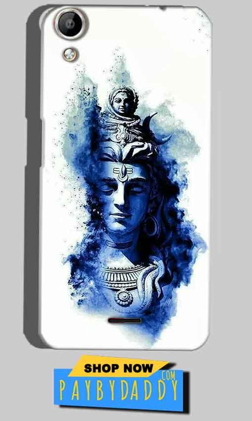 Micromax Canvas Selfie 2 Q340 Mobile Covers Cases Shiva Blue White - Lowest Price - Paybydaddy.com