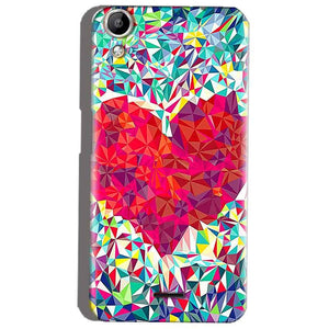 Micromax Canvas Selfie 2 Q340 Mobile Covers Cases heart Prisma design - Lowest Price - Paybydaddy.com