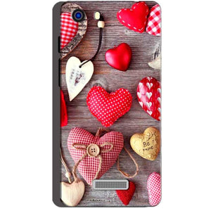 Micromax Unite 3 Q372 Mobile Covers Cases Hearts- Lowest Price - Paybydaddy.com